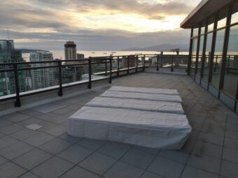 coal harbour vancouver penthouse patio power washing image after outdoor cleaning view to english bay