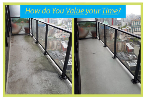 algae and mold cleaning of vancouver balcony