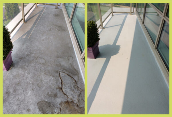 west vancouver lynn valley condo apartment algae balcony concrete floor cleaning