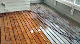 pressure washing wood deck with percarbonate