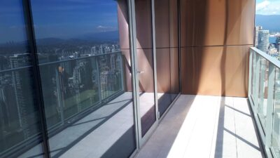 cleaning windows and balcony at vancouver house