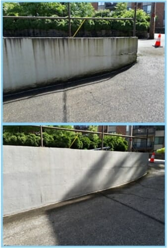 power wash concrete parkade ramp surface