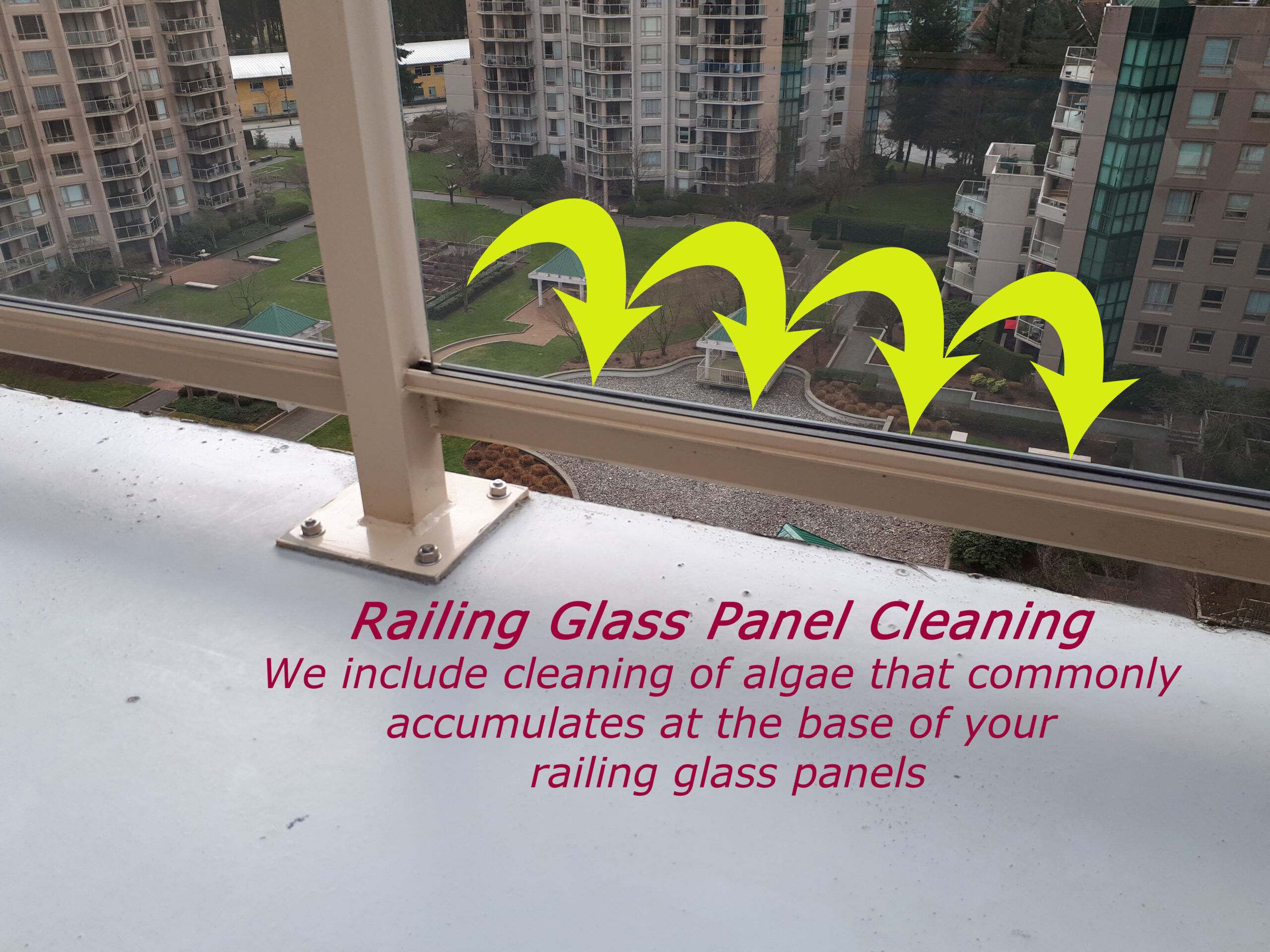 How to clean balcony railing glass panels near you in vancouver