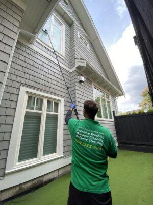 xero pure water fed pole window cleaning